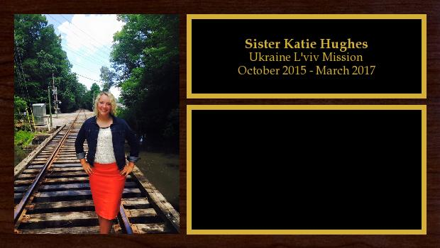 October 2015 to March 2017<br/>Sister Katie Hughes