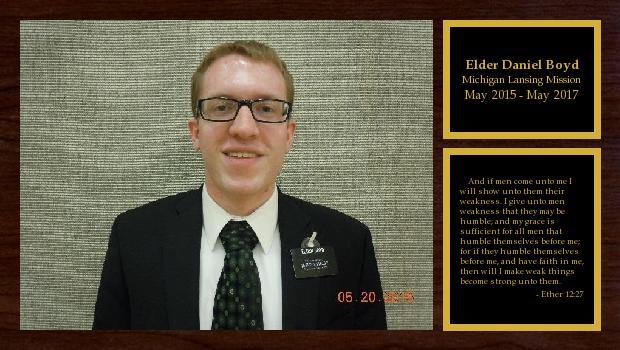 May 2015 to May 2017<br/>Elder Daniel Boyd