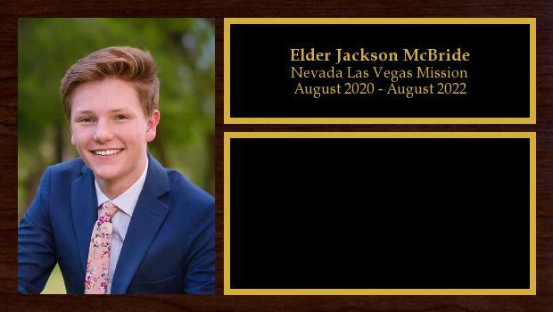 August 2020 to August 2022<br/>Elder Jackson McBride