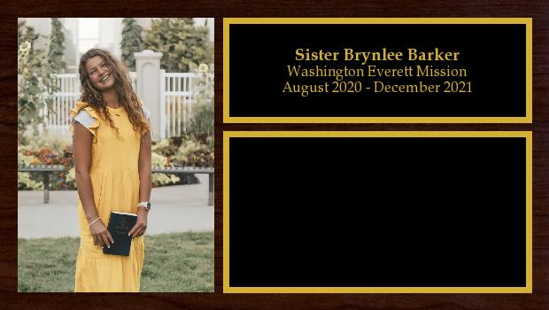August 2020 to February 2022<br/>Sister Brynlee Barker