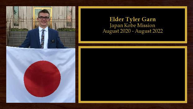 August 2020 to August 2022<br/>Elder Tyler Garn