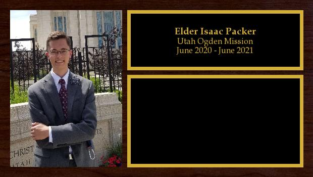 June 2020 to June 2021<br/>Elder Isaac Packer