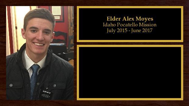 July 2015 to June 2017<br/>Elder Alex Moyes