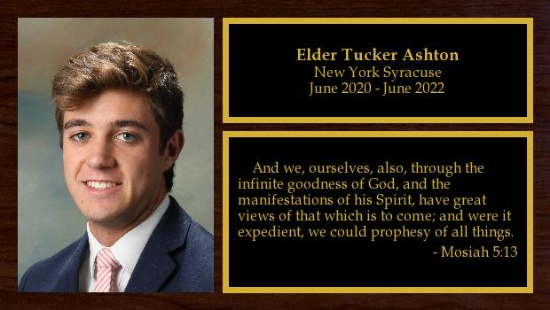June 2020 to June 2022<br/>Elder Tucker Ashton
