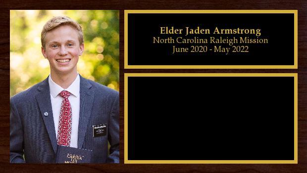 June 2020 to June 2022<br/>Elder Jaden Armstrong