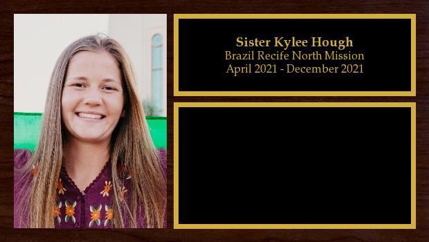 April 2021 to December 2021<br/>Sister Kylee Hough