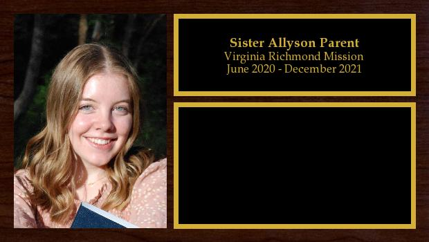 June 2020 to December 2021<br/>Sister Allyson Parent