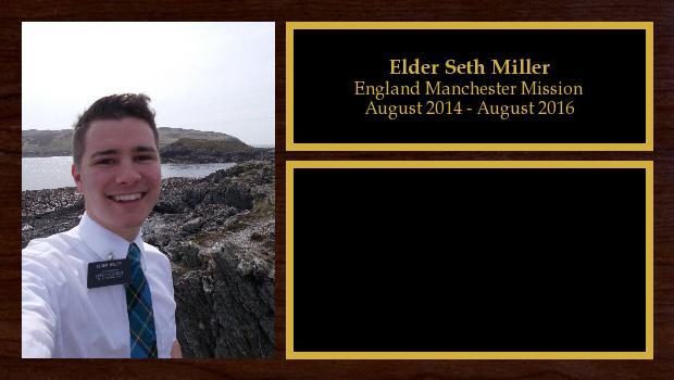 August 2014 to August 2016<br/>Elder Seth Miller