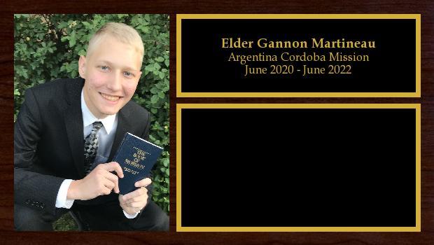 June 2020 to June 2022<br/>Elder Gannon Martineau