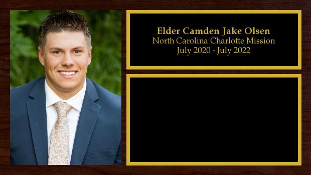 July 2020 to July 2022<br/>Elder Camden Jake Olsen