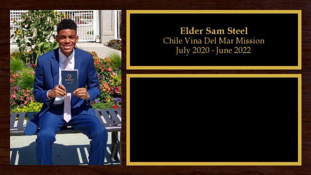 July 2020 to July 2022<br/>Elder Sam Steel