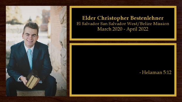 <br/>Elder Christopher Bestenlehner