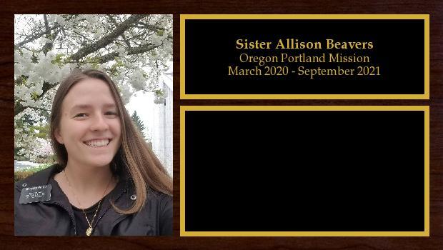 March 2020 to September 2021<br/>Sister Allison Beavers