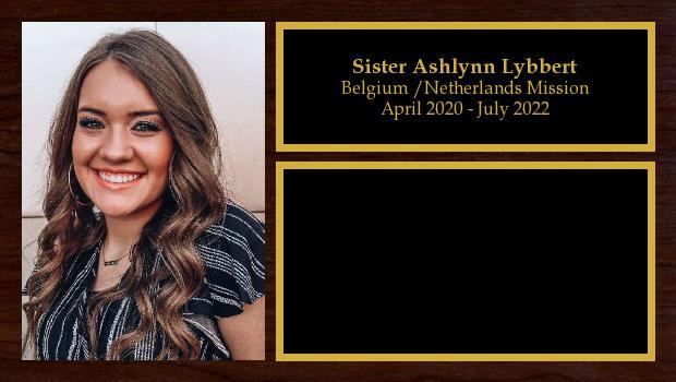 April 2020 to October 2021<br/>Sister Ashlynn Lybbert