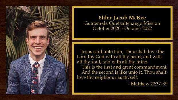 October 2020 to October 2022<br/>Elder Jacob McKee