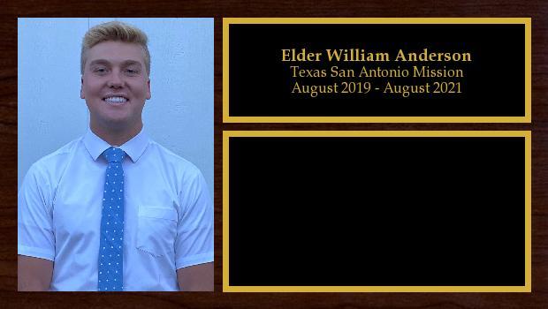 August 2019 to August 2021<br/>Elder William Anderson