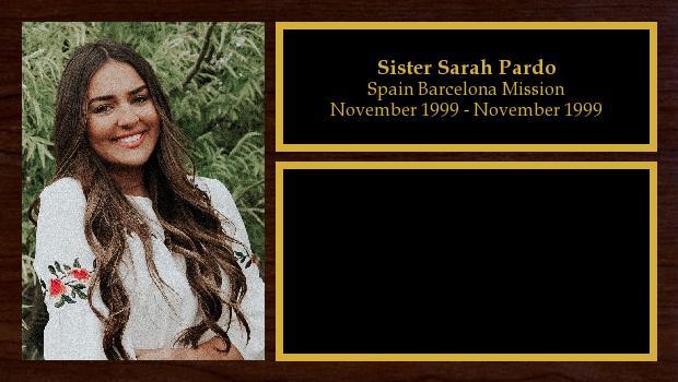 November 2019 to November 2021<br/>Sister Sarah Pardo