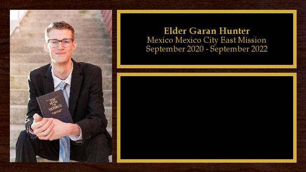 September 2020 to September 2022<br/>Elder Garan Hunter