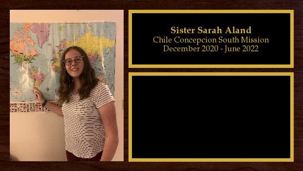 December 2020 to June 2022<br/>Sister Sarah Aland