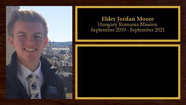 September 2019 to September 2021<br/>Elder Jordan Moore