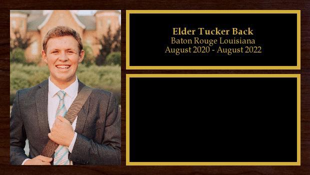 August 2020 to August 2022<br/>Elder Tucker Back