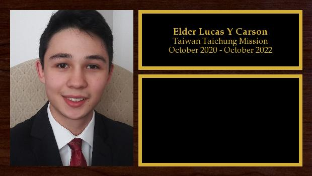 October 2020 to October 2022<br/>Elder Lucas Y Carson
