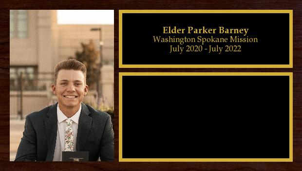 July 2020 to July 2022<br/>Elder Parker Barney