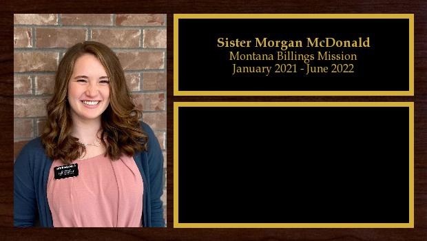 January 2021 to June 2022<br/>Sister Morgan McDonald