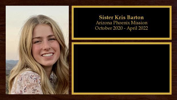 October 2020 to April 2022<br/>Sister Ellie Barton