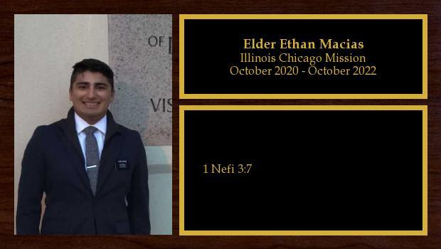 October 2020 to October 2022<br/>Elder Ethan Macias