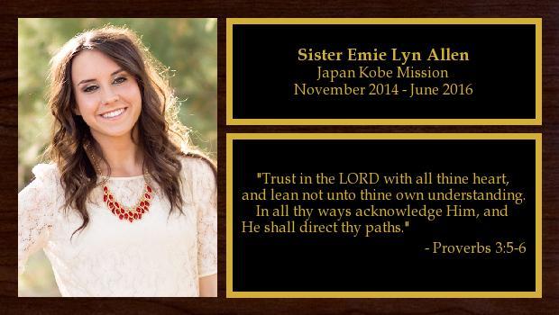 November 2014 to June 2016<br/>Sister Emie Lyn Allen