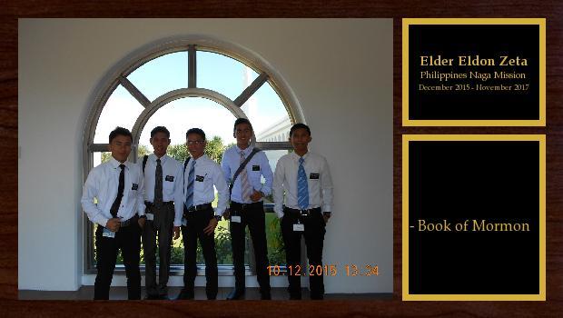 December 2015 to November 2017<br/>Elder Eldon Zeta