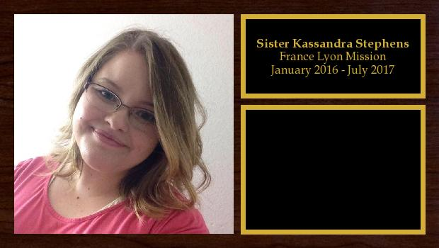 January 2016 to July 2017<br/>Sister Kassandra Stephens