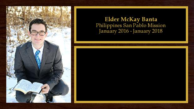 January 2016 to January 2018<br/>Elder McKay Banta