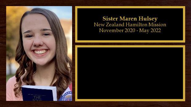 November 2020 to May 2022<br/>Sister Maren Hulsey