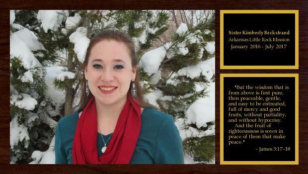 January 2016 to July 2017<br/>Sister Kimberly Beckstrand