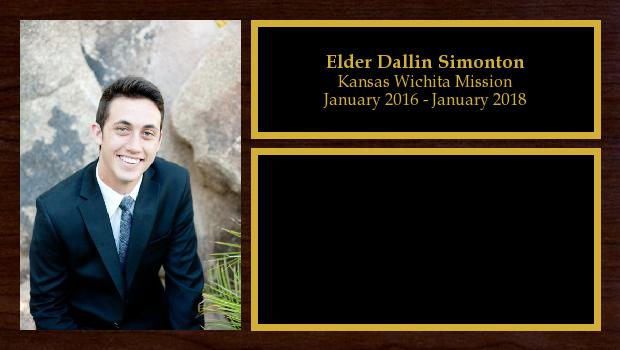 January 2016 to January 2018<br/>Elder Dallin Simonton