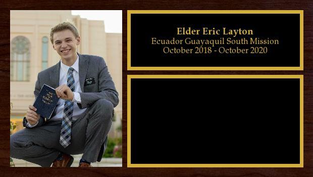 October 2018 to October 2020<br/>Elder Eric Layton