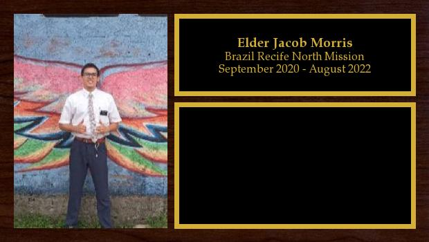 September 2020 to August 2022<br/>Elder Jacob Morris