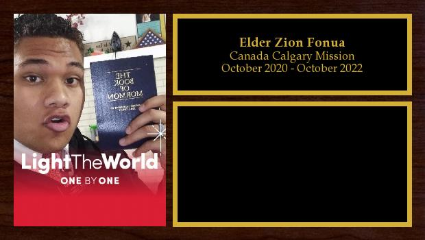 October 2020 to October 2022<br/>Elder Zion Fonua