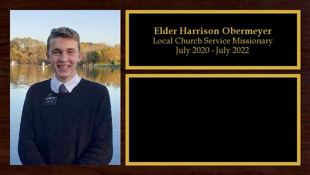 July 2020 to July 2022<br/>Elder Harrison Obermeyer