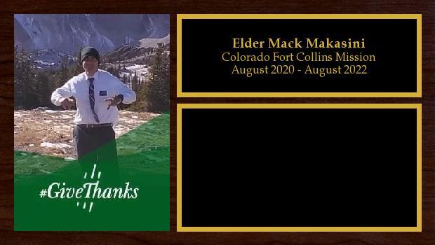 August 2020 to August 2022<br/>Elder Mack Makasini