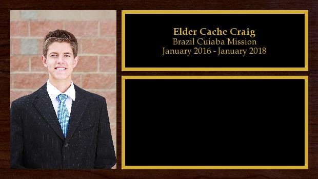 January 2016 to January 2018<br/>Elder Cache Craig