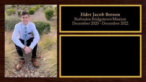 December 2020 to December 2022<br/>Elder Jacob Beeson