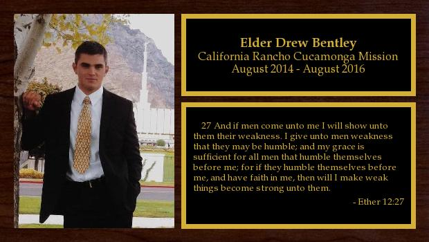 August 2014 to August 2016<br/>Elder Drew Bentley