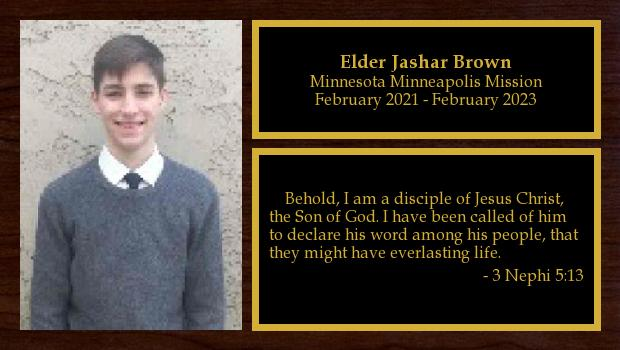 February 2021 to February 2023<br/>Elder Jashar Brown