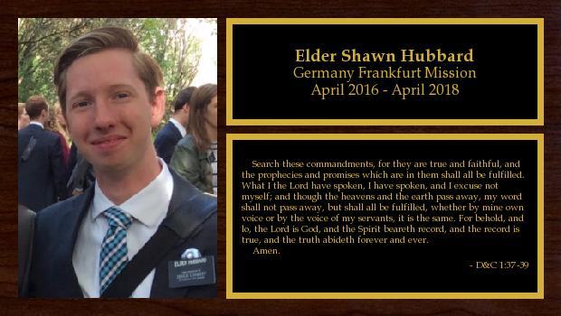April 2016 to April 2018<br/>Elder Shawn Hubbard