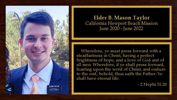 June 2020 to June 2022<br/>Elder B. Mason Taylor