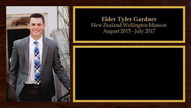August 2015 to July 2017<br/>Elder Tyler Gardner