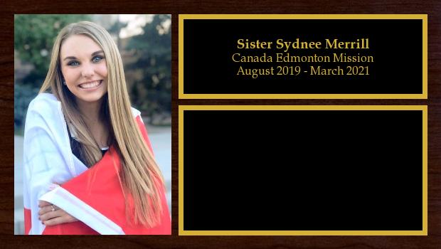 August 2019 to March 2021<br/>Sister Sydnee Merrill